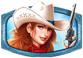 Cowgirl with White Hat