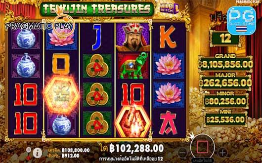 Temujin Treasures ฟีเจอร์ประทัด