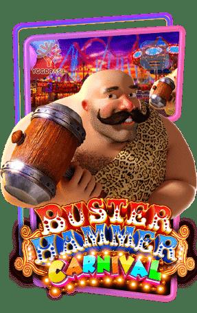 Buster Hammer Carnival ทดลองเล่นสล็อต yggdrasil Gaming slot เล่นฟรี สมัครรับโบนัส100%