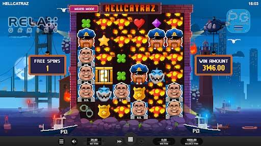 Hellcatraz ฟีเจอร์เกม
